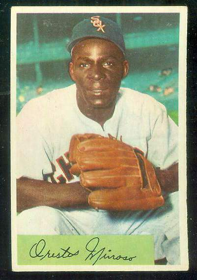 1954 Bowman #.38A Minnie Minoso ERROR VARIATION 'FA .895/.961' [#a] Baseball cards value