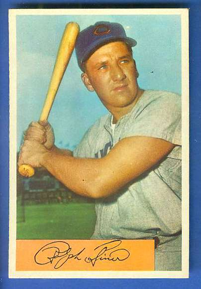 1954 Bowman #.45 Ralph Kiner [#a] (Cubs) Baseball cards value