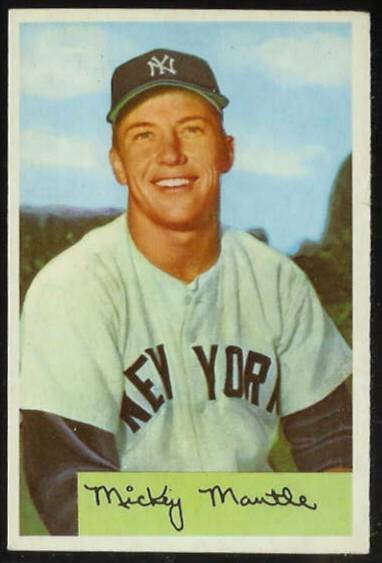 1954 Bowman #.65 Mickey Mantle (Yankees) Baseball cards value