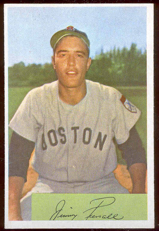 1954 Bowman #.66A Jimmy Piersall (Red Sox) Baseball cards value