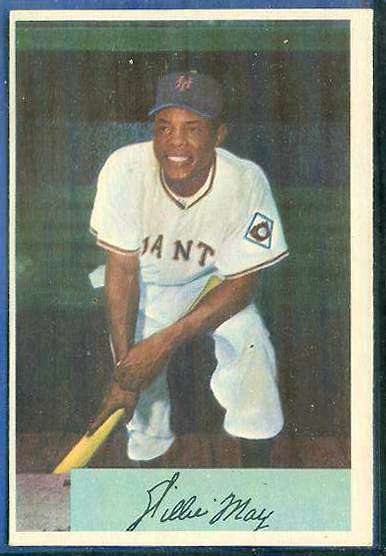 1954 Bowman #.89 Willie Mays [#b] (New York Giants) Baseball cards value