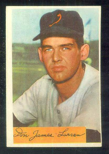 1954 Bowman #101 Don Larsen ROOKIE [#a] (Orioles) Baseball cards value