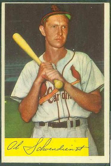 1954 Bowman #110 Al 'Red' Schoendienst [#a] (Cardinals) Baseball cards value