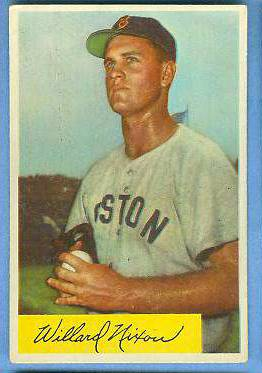 1954 Bowman #114 Willard Nixon (Red Sox) Baseball cards value