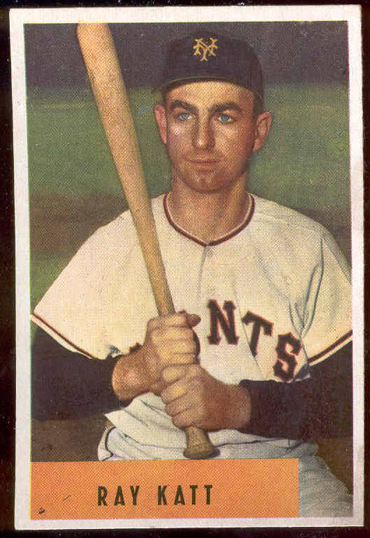 1954 Bowman #121 Ray Katt (New York Giants) Baseball cards value