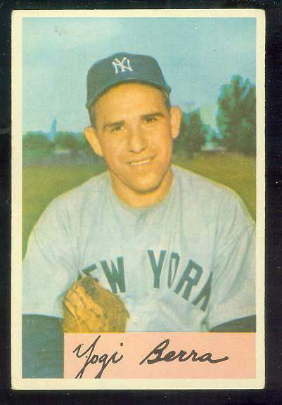 1954 Bowman #161 Yogi Berra [#a] (Yankees) Baseball cards value