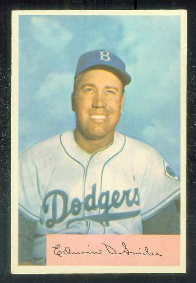 1954 Bowman #170 Duke Snider [#b] (Brooklyn Dodgers) Baseball cards value