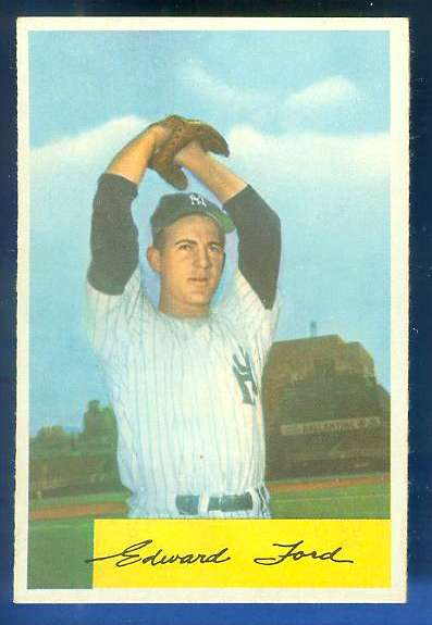 1954 Bowman #177 Whitey Ford [#a] (Yankees) Baseball cards value