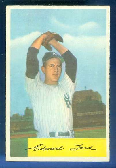 1954 Bowman #177 Whitey Ford [#c] (Yankees) Baseball cards value