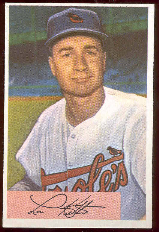 1954 Bowman #197 Lou Kretlow (Orioles) Baseball cards value