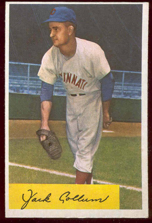 1954 Bowman #204 Jack Collum ROOKIE (Reds) Baseball cards value