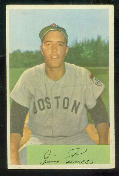 1954 Bowman #210 Jimmy Piersall (Red Sox) Baseball cards value