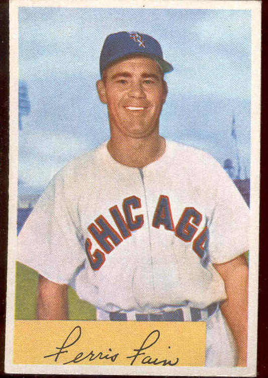 1954 Bowman #214 Ferris Fain (White Sox) Baseball cards value