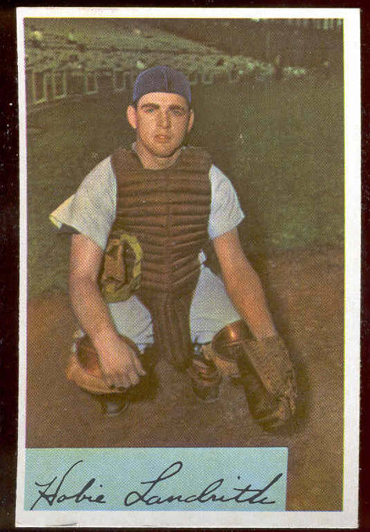 1954 Bowman #220 Hobie Landrith ROOKIE (Reds) Baseball cards value