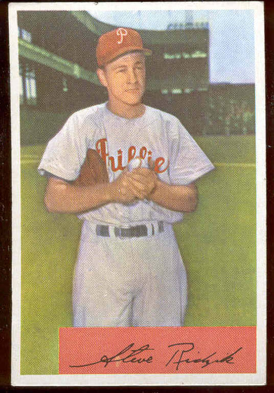 1954 Bowman #223 Steve Ridzik (Phillies) Baseball cards value