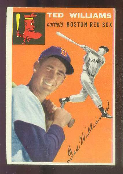 1954 Topps #..1 Ted Williams [#a] (Red Sox) Baseball cards value