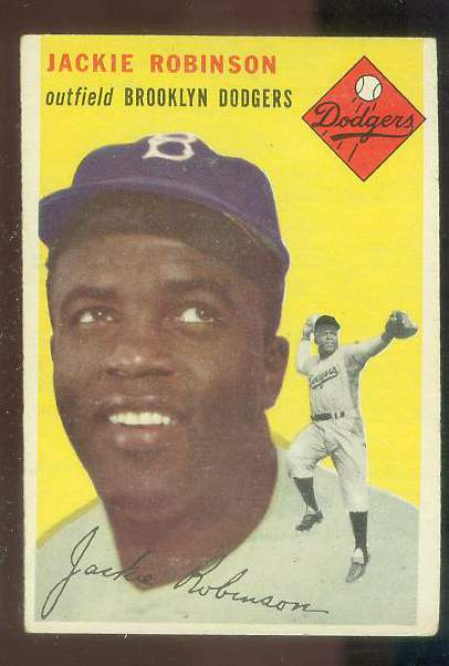 1954 Topps #.10 Jackie Robinson [#a] (Brooklyn Dodgers) Baseball cards value