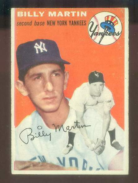 1954 Topps #.13 Billy Martin [#a] (Yankees) Baseball cards value