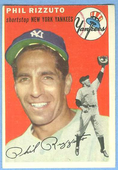 1954 Topps #.17 Phil Rizzuto [#a] (Yankees) Baseball cards value