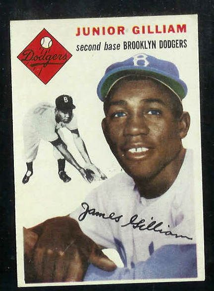 1954 Topps #.35 Junior Gilliam [#b] (Brooklyn Dodgers) Baseball cards value