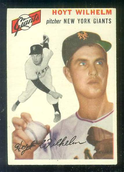 1954 Topps #.36 Hoyt Wilhelm [#b] (NY Giants) Baseball cards value
