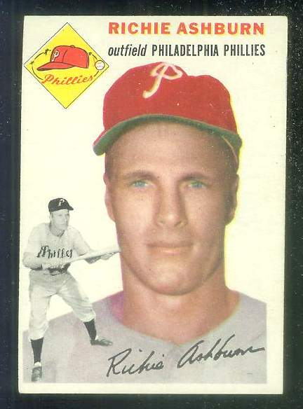 1954 Topps #.45 Richie Ashburn [#b] (Phillies) Baseball cards value