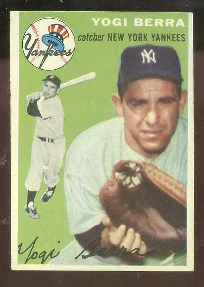 1954 Topps #.50 Yogi Berra [#a] (Yankees) Baseball cards value