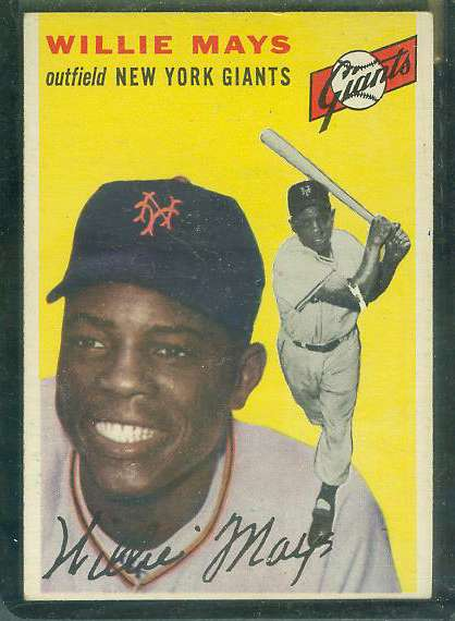 1954 Topps #.90 Willie Mays [#a] (NY Giants) Baseball cards value