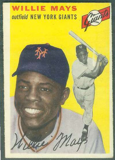 1954 Topps #.90 Willie Mays [#b] (NY Giants) Baseball cards value