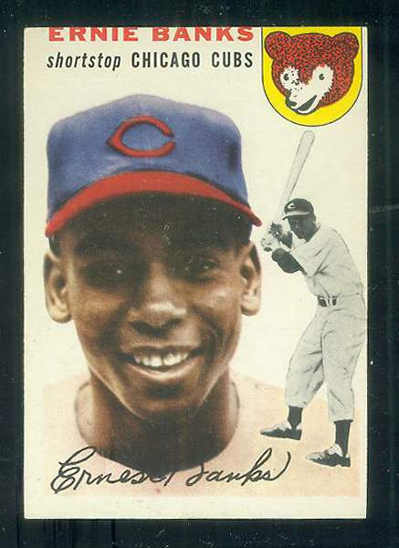 1954 Topps #.94 Ernie Banks [#a] ROOKIE (Cubs) Baseball cards value