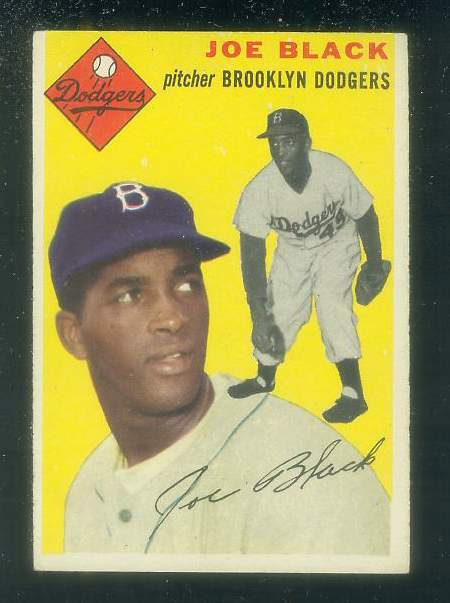 1954 Topps #.98 Joe Black [#a] (Brooklyn Dodgers) Baseball cards value