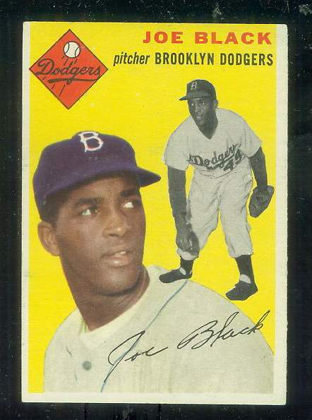1954 Topps #.98 Joe Black [#b] (Brooklyn Dodgers) Baseball cards value