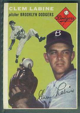 1954 Topps #121 Clem Labine (Brooklyn Dodgers) Baseball cards value