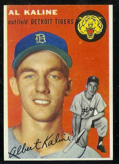 1954 Topps #201 Al Kaline ROOKIE [#a] (Tigers) Baseball cards value