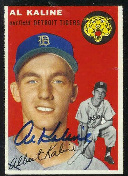 1954 Topps #201 Al Kaline ROOKIE [#b] AUTOGRAPHED (Tigers) Baseball cards value