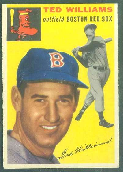 1954 Topps #250 Ted Williams [#a] (Red Sox) Baseball cards value