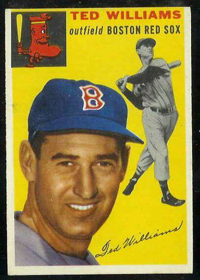 1954 Topps #250 Ted Williams [#b] (Red Sox) Baseball cards value