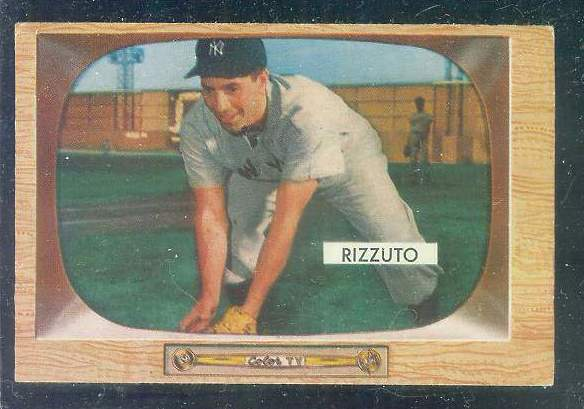 1955 Bowman #.10 Phil Rizzuto [#a] (Yankees) Baseball cards value