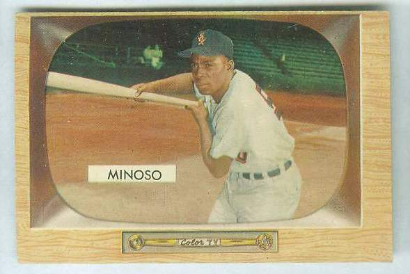 1955 Bowman #.25 Minnie Minoso [#a] (White Sox) Baseball cards value