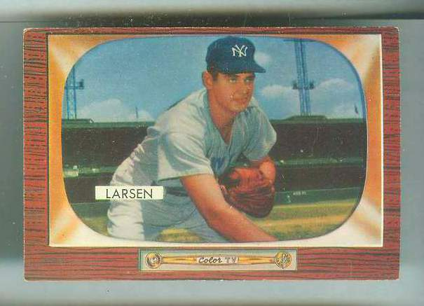 1955 Bowman #.67 Don Larsen [#a] (Yankees) Baseball cards value