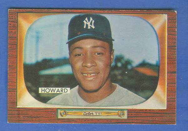 1955 Bowman #.68 Elston Howard ROOKIE [#a] (Yankees) Baseball cards value