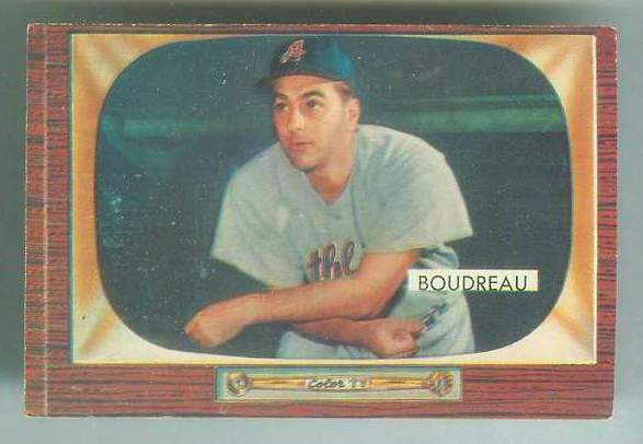1955 Bowman #.89 Lou Boudreau MGR [#a] (Kansas City A's) Baseball cards value