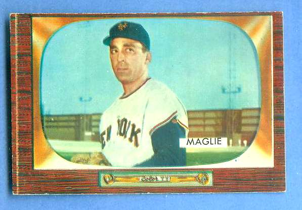 1955 Bowman #.95 Sal Maglie [#b] (New York Giants) Baseball cards value