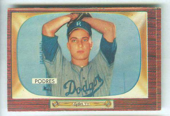 1955 Bowman #.97 John Podres [#a] (Brooklyn Dodgers) Baseball cards value