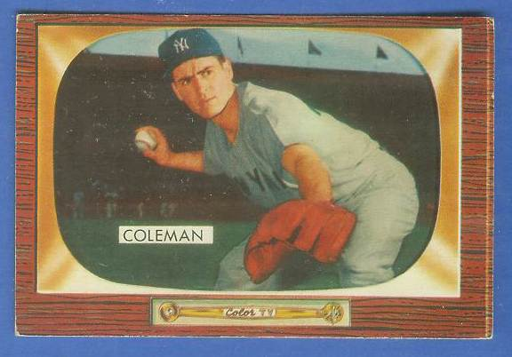 1955 Bowman #.99 Jerry Coleman [#a] (Yankees) Baseball cards value