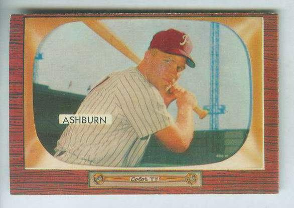1955 Bowman #130 Richie Ashburn [#b] (Phillies) Baseball cards value