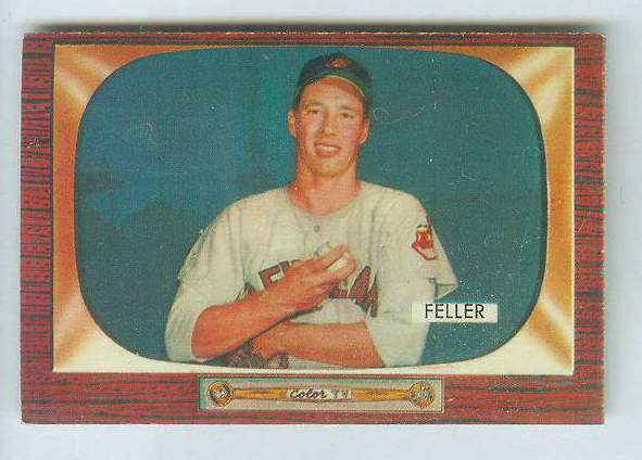 1955 Bowman #134 Bob Feller [#a] (Indians) Baseball cards value