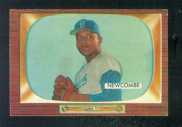 1955 Bowman #143 Don Newcombe [#a] (Brooklyn Dodgers) Baseball cards value