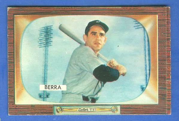 1955 Bowman #168 Yogi Berra [#b] (Yankees) Baseball cards value