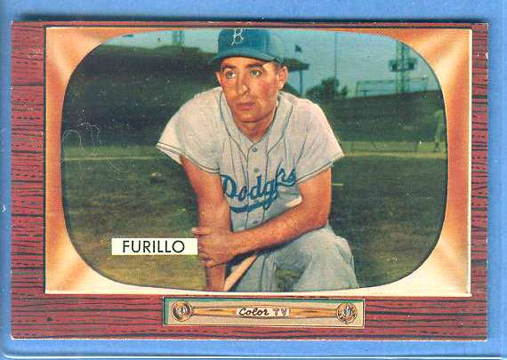1955 Bowman #169 Carl Furillo [#b] (Brooklyn Dodgers) Baseball cards value